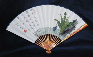 Japanese art calligraphy fan ink