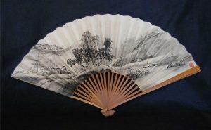 Japanese ink art fan