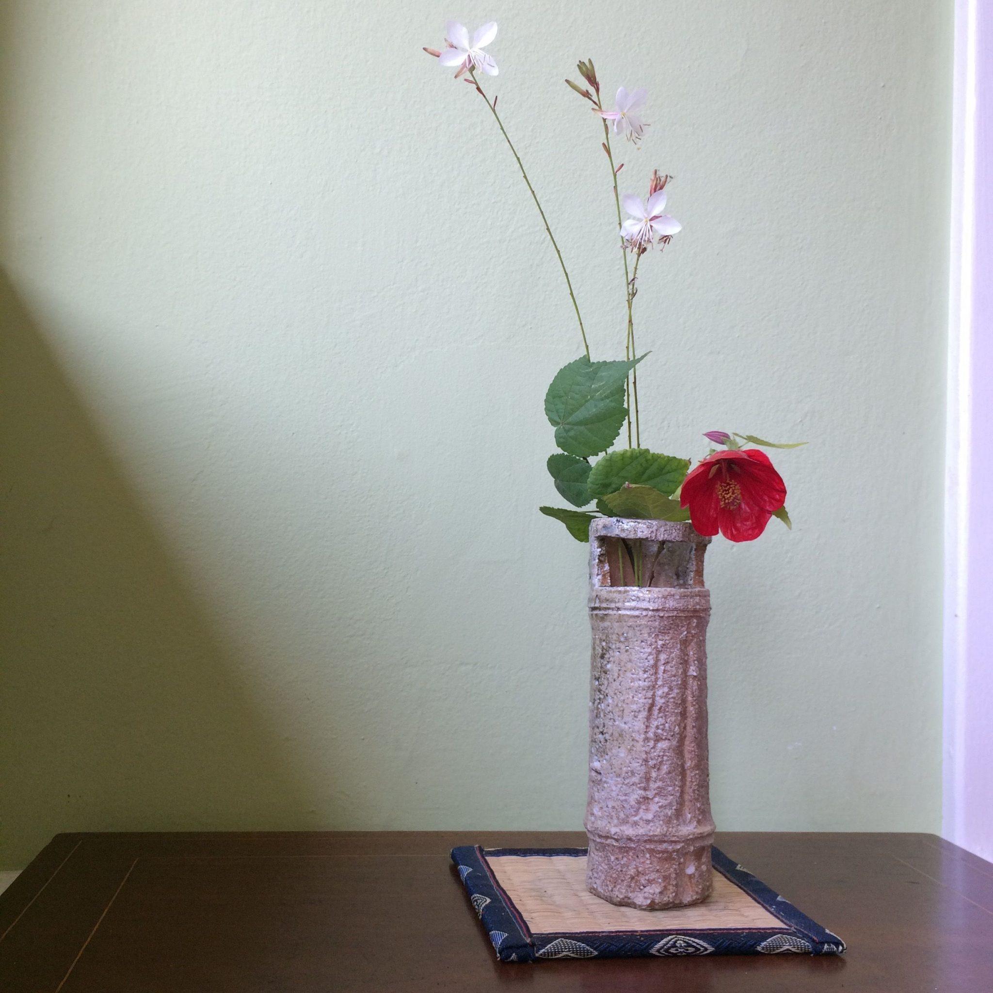 ceramic vase flowers nature art
